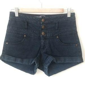 High Waisted Black Pin Up Shorts